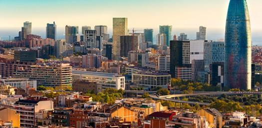 Skyline de Barcelona, uno de los mejores lugares para emprender en España.