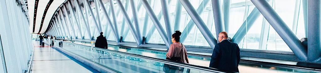Vista de uno de los mejores aeropuertos de Europa.