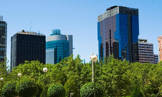 Un paseo por la zona financiera de Madrid