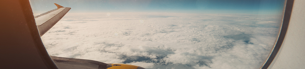Vista desde ventana de avión