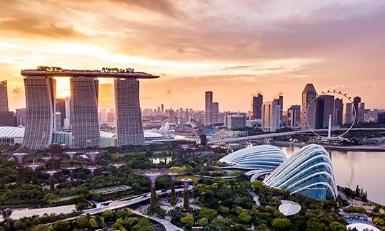 Guía de viaje corporativo con destino Singapur