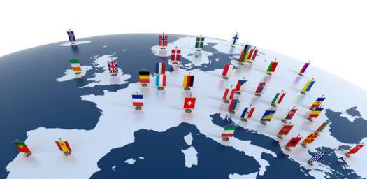 ETIAS- mapa banderas países Europa