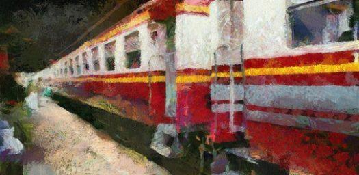 Vagón tren antiguo
