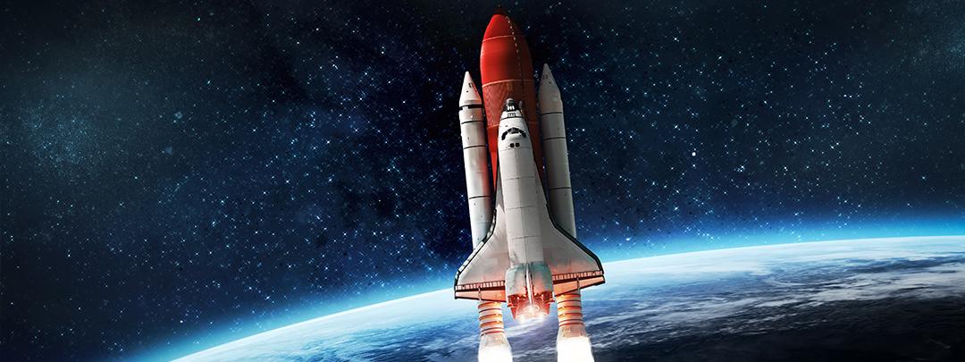 Cohete en el espacio