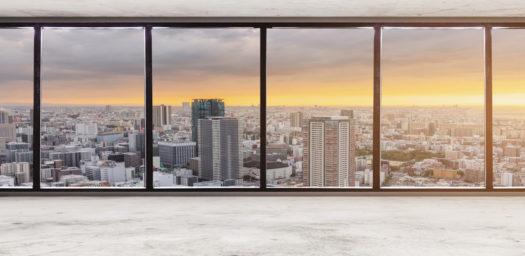 Vista rascacielos ciudad