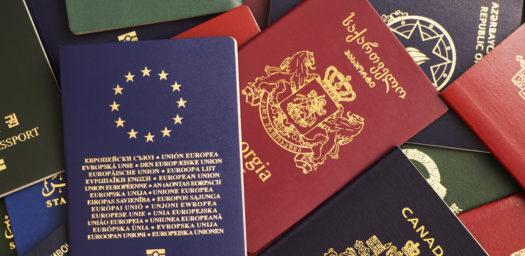 Pasaportes de diferentes países