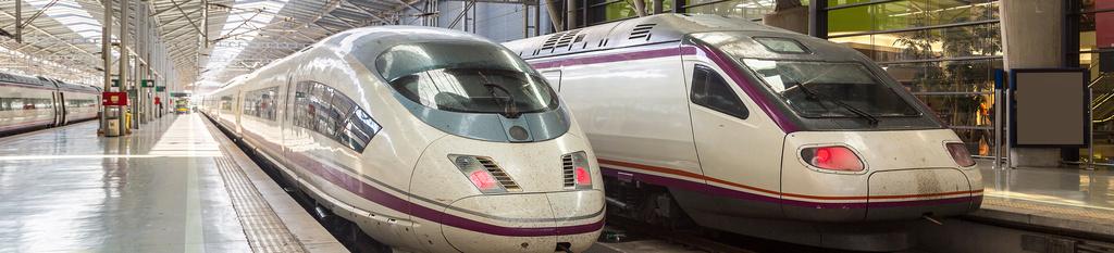 Tren Renfe en estación de Málaga