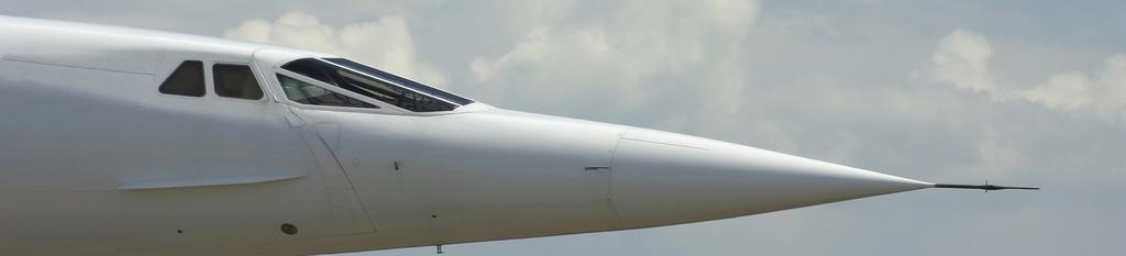 Parte frontal avión concord
